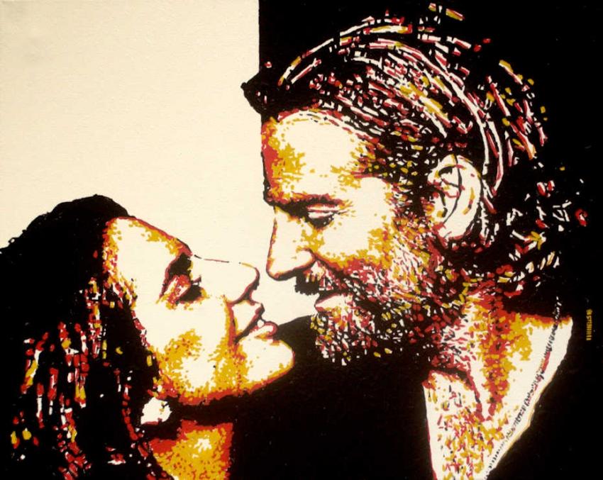 Lady Gaga, Bradley Cooper by MarcusWellsArt